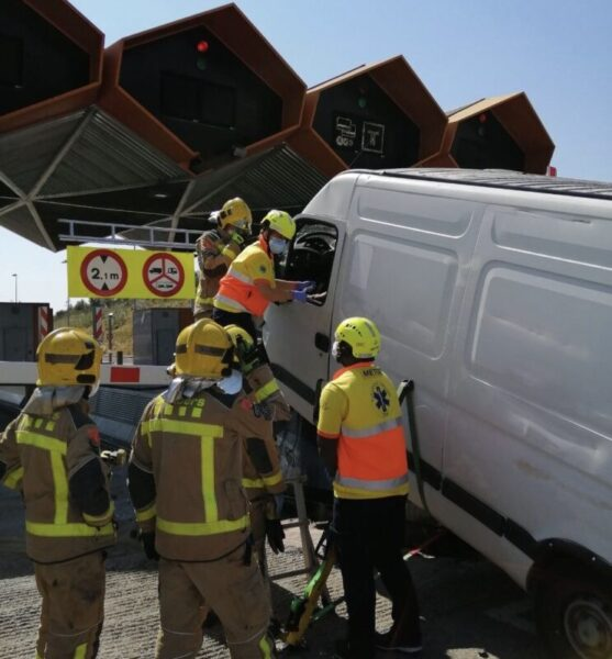 La Bustia accident furgoneta peatge Martorell