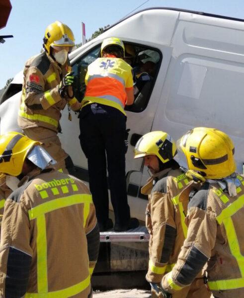 La Bustia accidentat furgoneta peatge Martorell