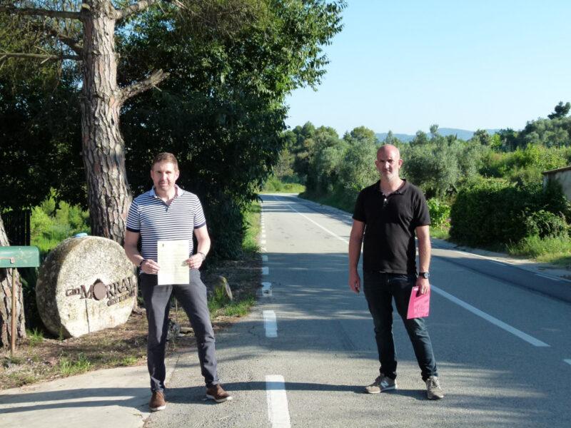 La Bustia carretera Abrera i Ullastrell