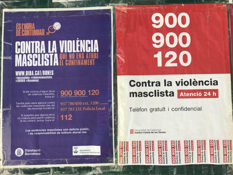 La Bustia cartells contra la violencia masclista Olesa