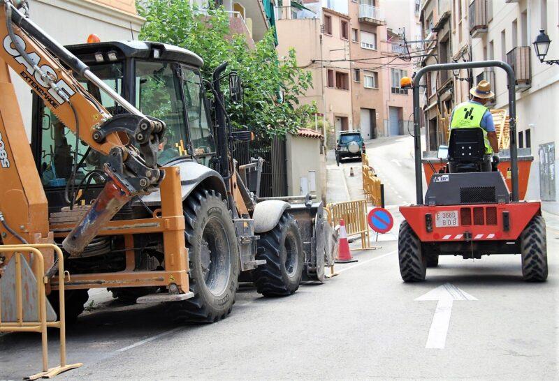 La Bustia obres Martorell carrers de Rosanes