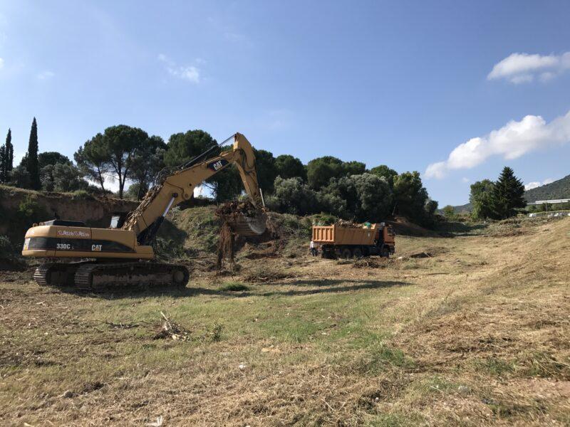 La Bustia obres urbanitzacio Cal Candi Olesa