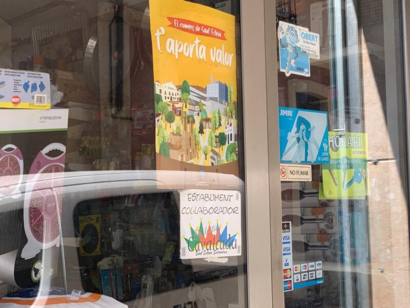 La Bustia cartell botiga campanya comerial Sant Esteve