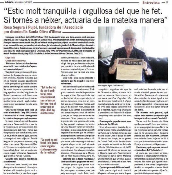 La Bustia entrevista Rosa Segura