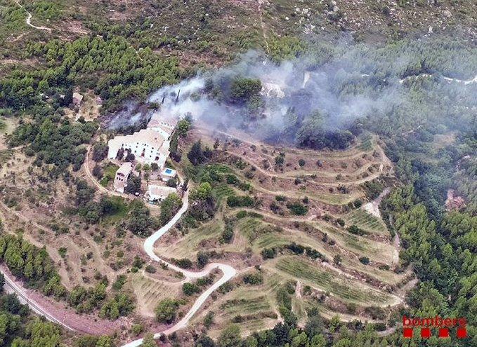 La Bustia foc forestal Esparreguera