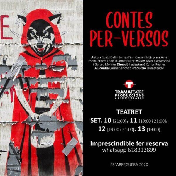 La Bustia cartell Contes per versos Tramateatre