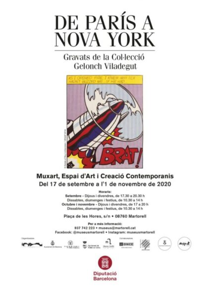 La Bustia cartell exposicio de Paris Nova York