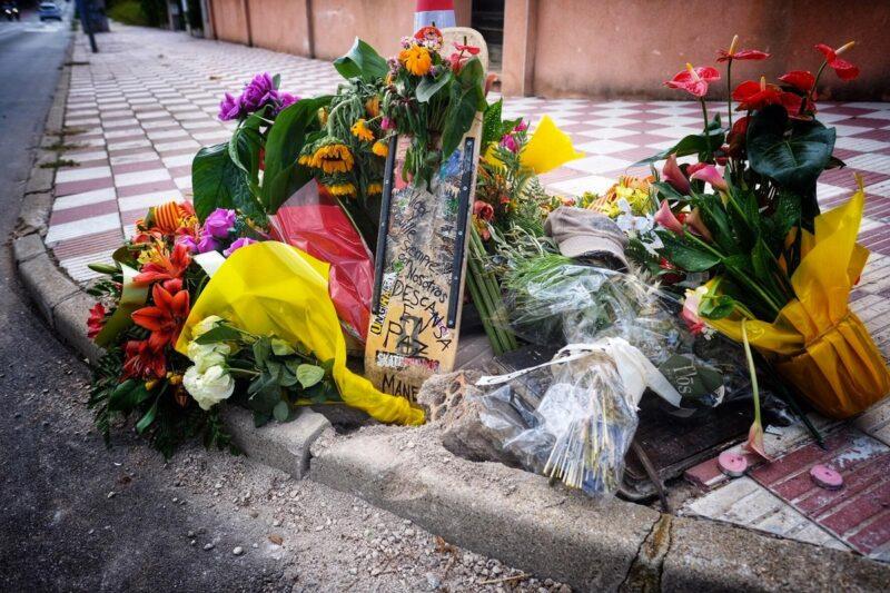 La Bustia flors lloc accident jove moto Collbato