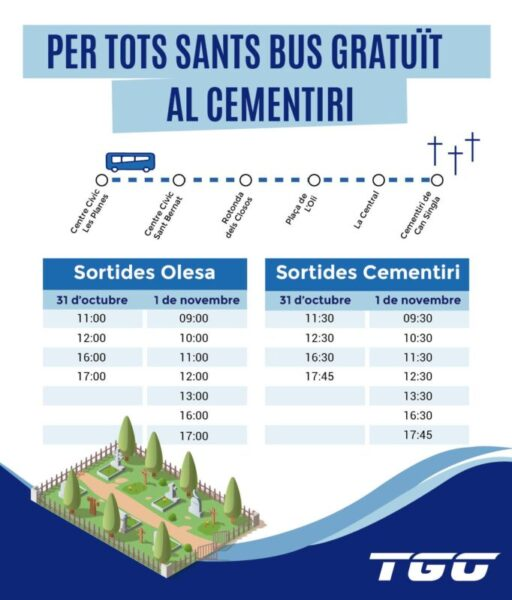 La Bustia TGO bus cementiri Olesa