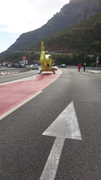 La Bustia accident aeri de Montserrat (2)