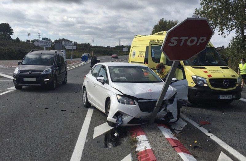 La Bustia accident transit B224 Masquefa
