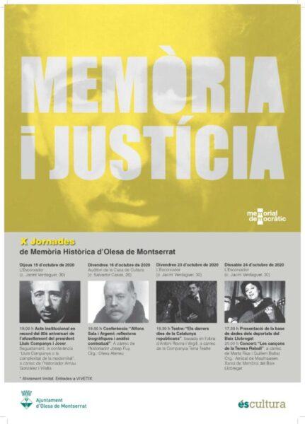 La Bustia cartell jornades Memoria historica