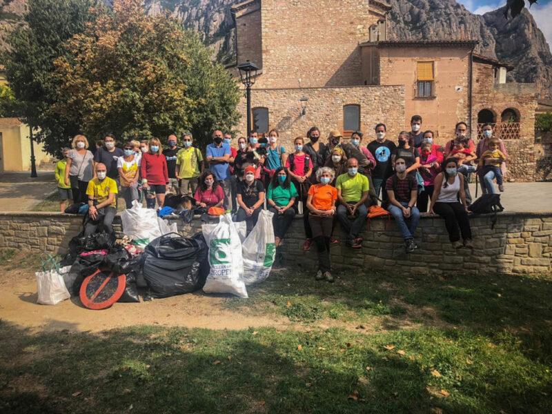 La Bustia lets clean up europe Collbató