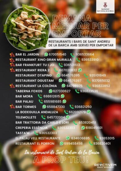 La Bustia llistat restaurants Sant Andreu