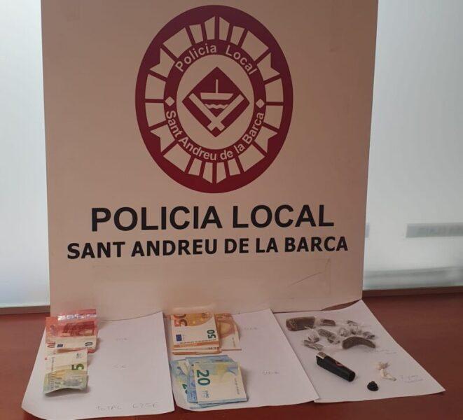La Bustia material intervingut Sant Andreu