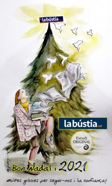 La Bustia postal Bon Nadal 2020 i any 2021 Eva Fernandez Olesa