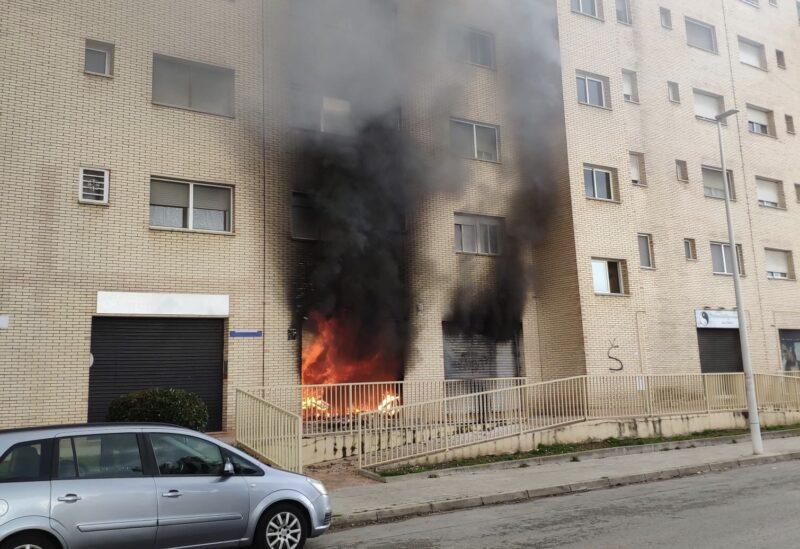 La Bustia incendi 22 gener 2021 Sant Andreu