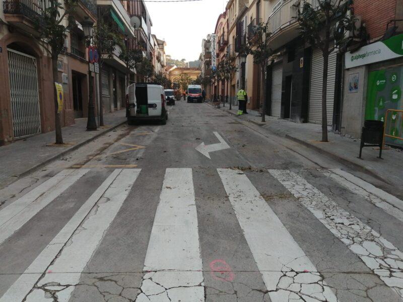 La Bustia obres Martorell carrers Renfe