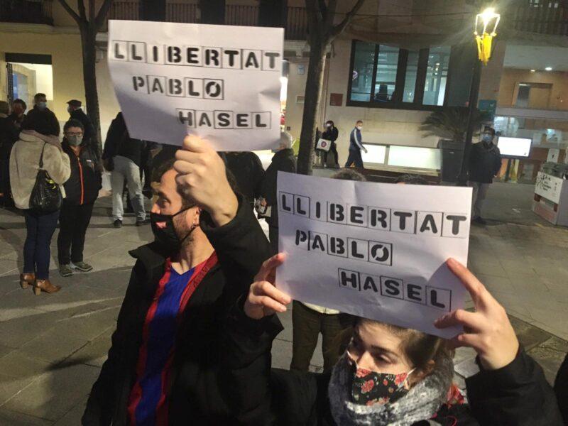 La Bustia concentracio Pablo Hasel Sant Andreu