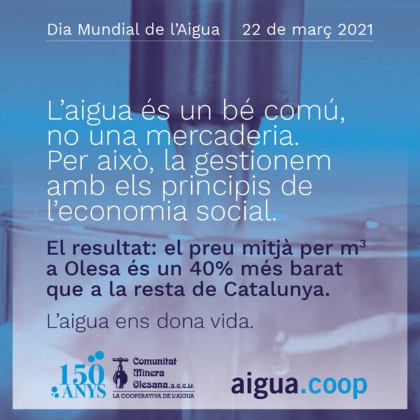 La Bustia Campanya Dia Mundial Aigua CMO Olesa