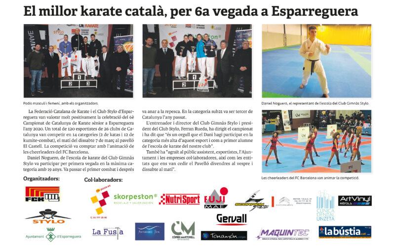 La Bustia campionat Catalunya karate senior Esparreguera 2020