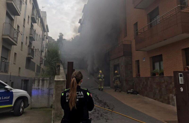 La Bustia incendi Gelida
