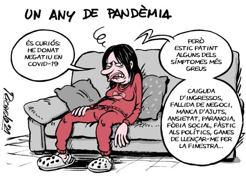 La Bustia vinyeta Peregrina un any de pandemia