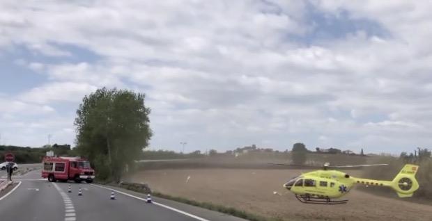 La Bustia accident i helicopter B224 Masquefa