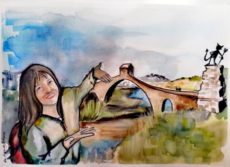 La Bustia dibuix Eva Fernandez abril 2021 Pont del Diable Martorell