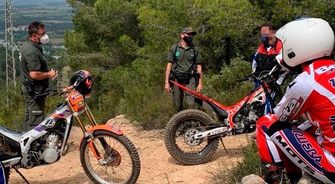 La Bustia Agents Rurals denuncia motociclistes trial Gelida