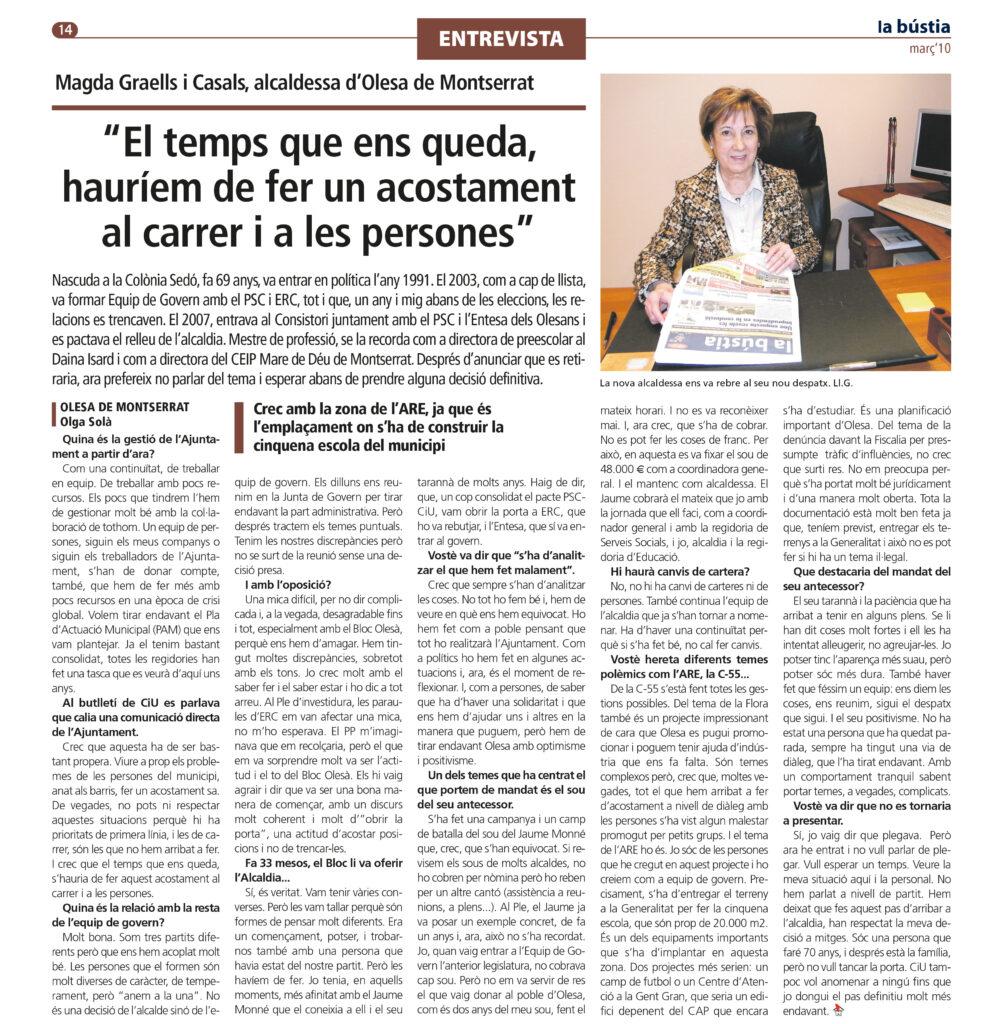 La Bustia Magda Graells entrevista 2011 entrevista