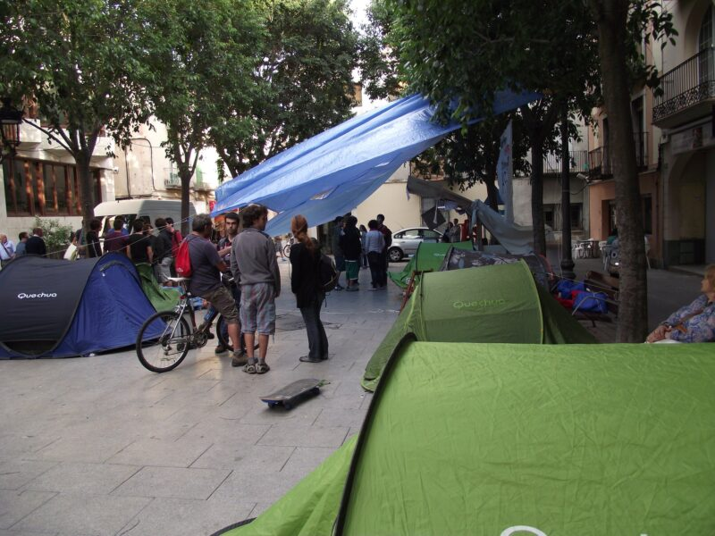 La Bustia acampada indignats maig 2011 Esparreguera
