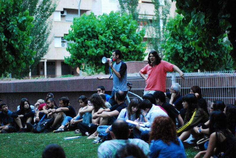 La Bustia acampada indignats maig 2011 Martorell