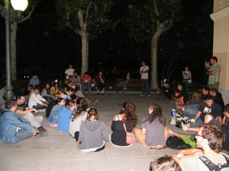 La Bustia acampada indignats maig 2011 Olesa