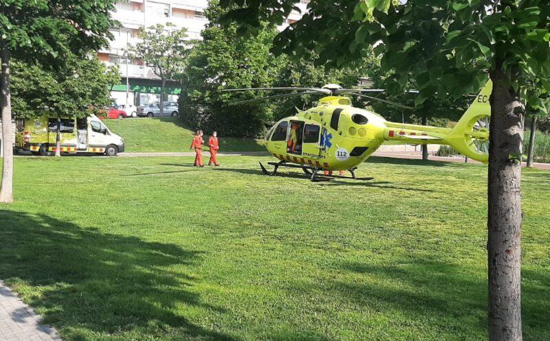 La Bustia helicopter medicalitzat Olesa