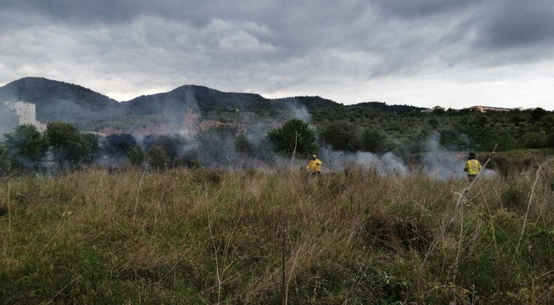 La Bustia incendi 23 maig 2021 Olesa