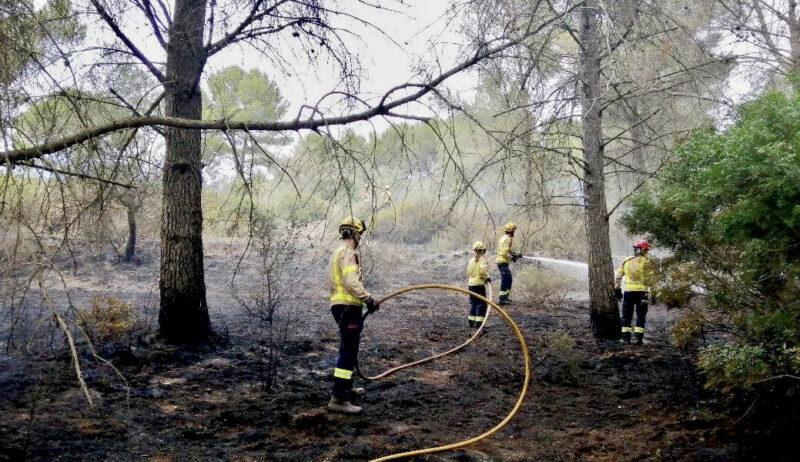 La Bustia incendi bombers 13 maig 2021 Sant Esteve