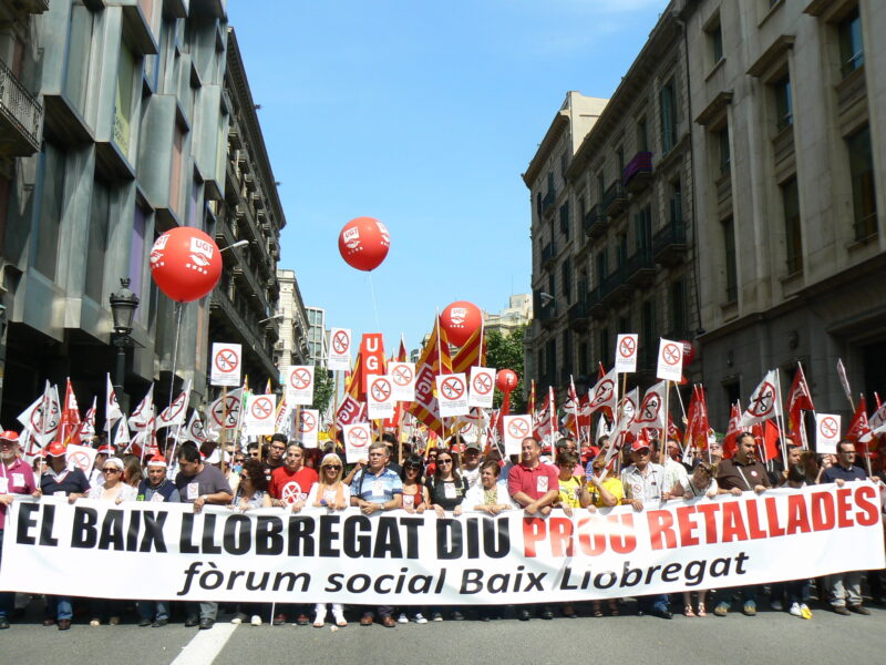 La Bustia indignats 14 maig 2011 manifestacia Barcelona