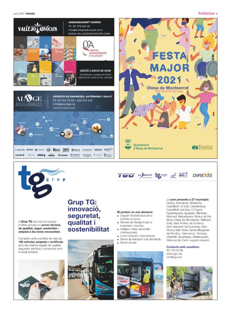 La Bustia programa Festa Major Olesa 2021 3