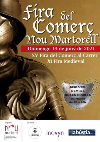 La Bustia cartell Fira Comerc i Medieval Martorell 13 juny 2021