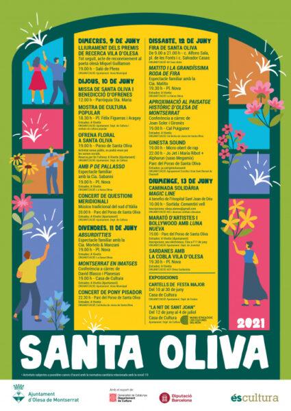 La Bustia cartell Santa Oliva Olesa 2021