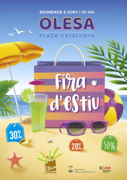 La Bustia cartell fira estiu 6 juny 2021 comerc Olesa