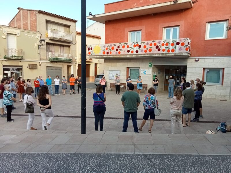 La Bustia concentracio contra violencia masclista 11 juny 2021 Castellvi