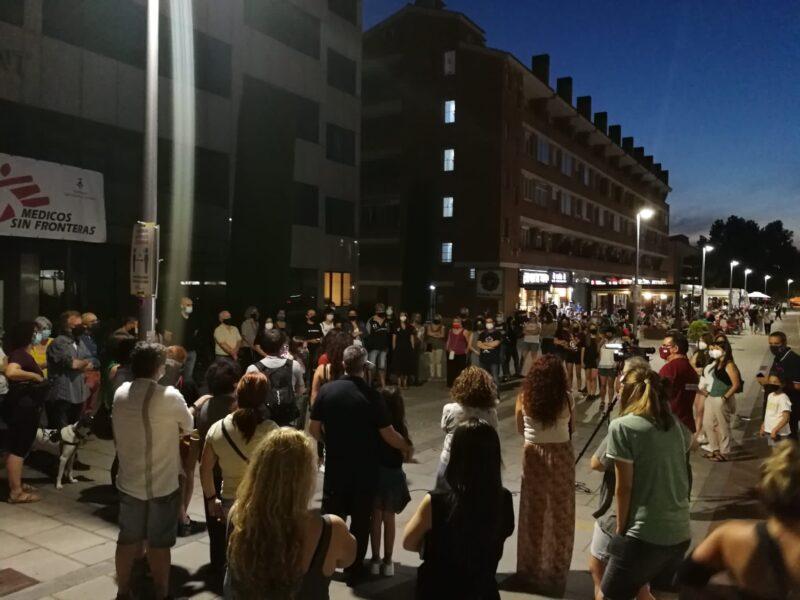 La Bustia concentracio contra violencia masclista 11 juny 2021 Sant Andreu 2