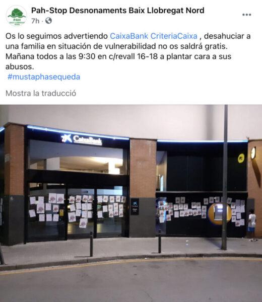 La Bustia facebook convocatoria per impedir desnonament PAH Baix Llobregat Nord Martorell