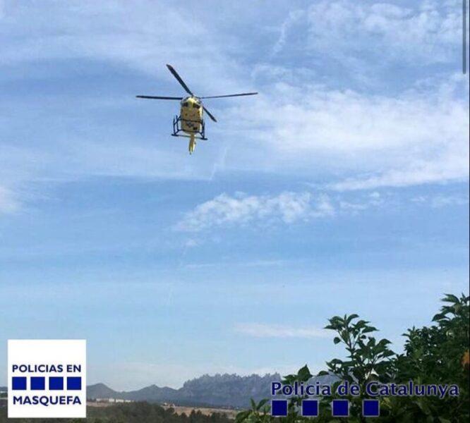 La Bustia helicopter Masquefa