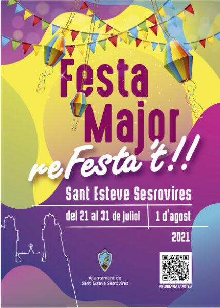 La Bustia cartell Festa Major Sant Esteve