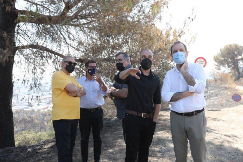 La Bustia diputats alcaldes regidors visita 17 juliol incendi Castellvi Martorell