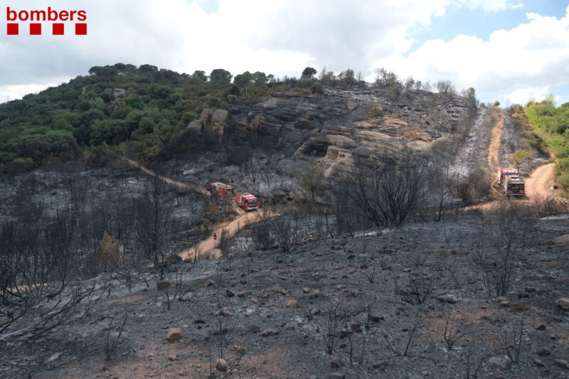 La Bustia incendi Castellvi Martorell 15 juliol 2021