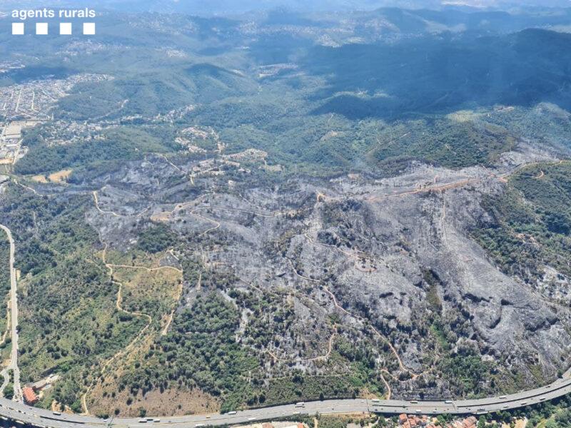 La Bustia incendi Castellvi Martorell